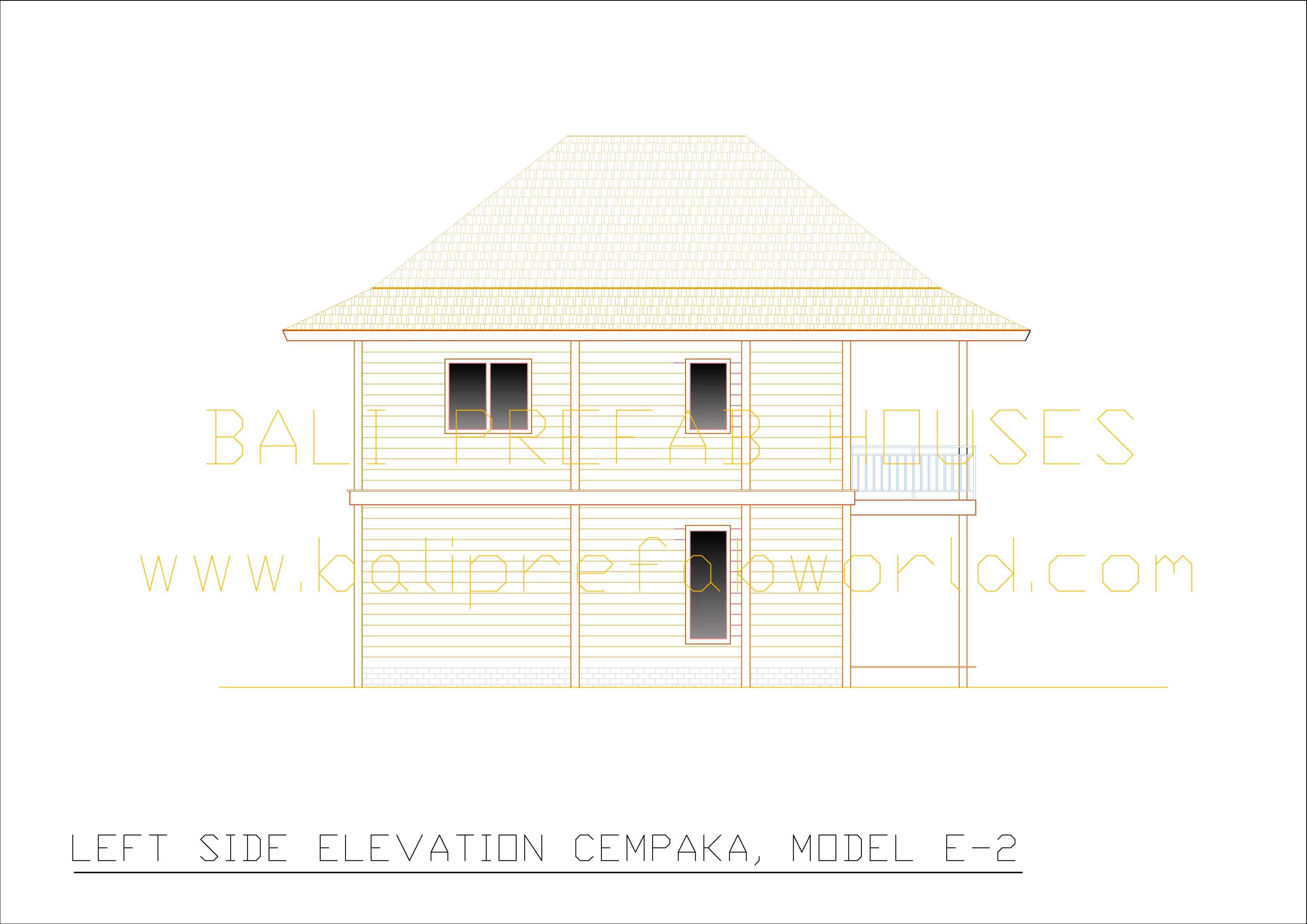Cempaka left side elevation