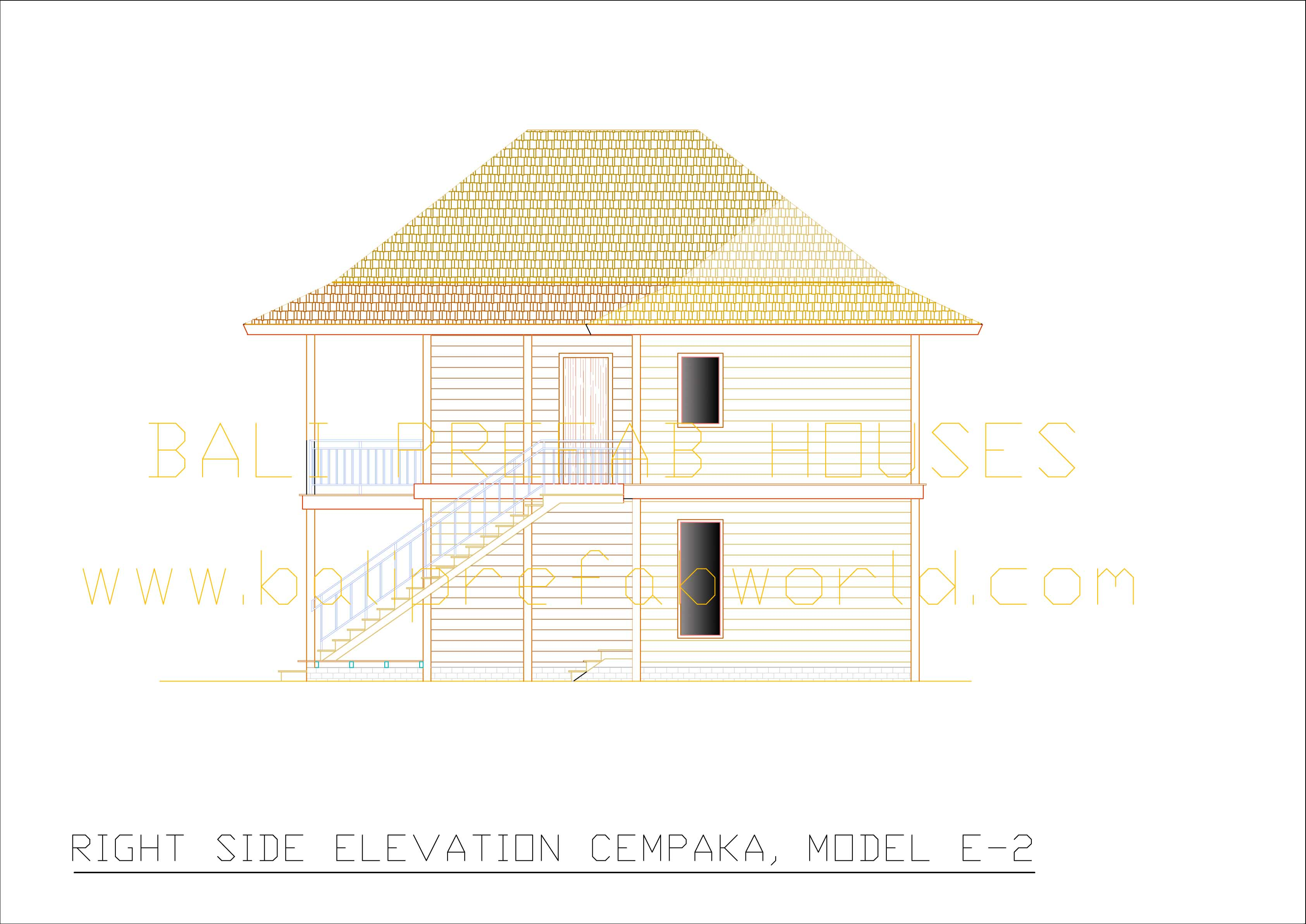 Cempaka right side elevation