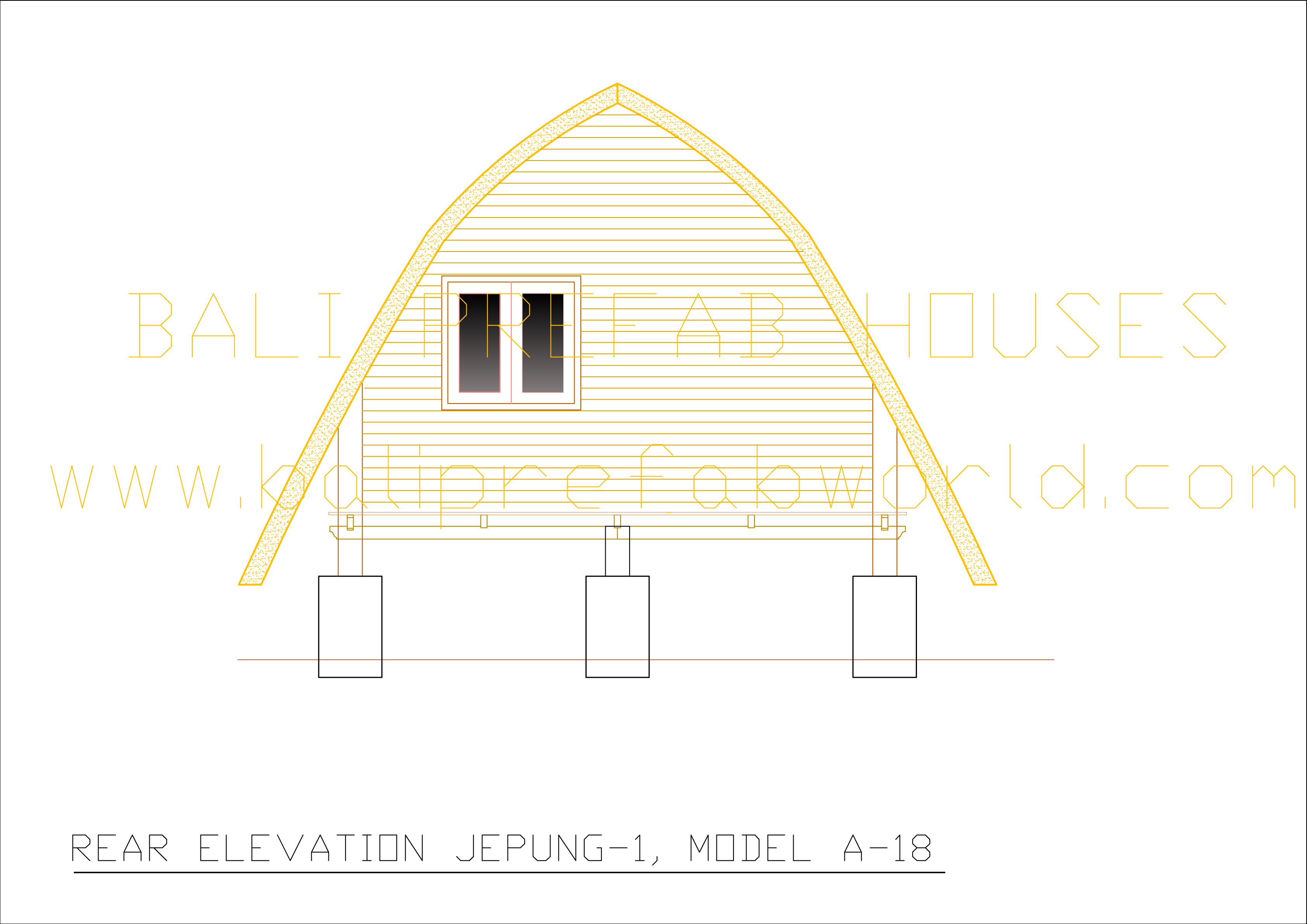 Jepung A 18 old rear elevation