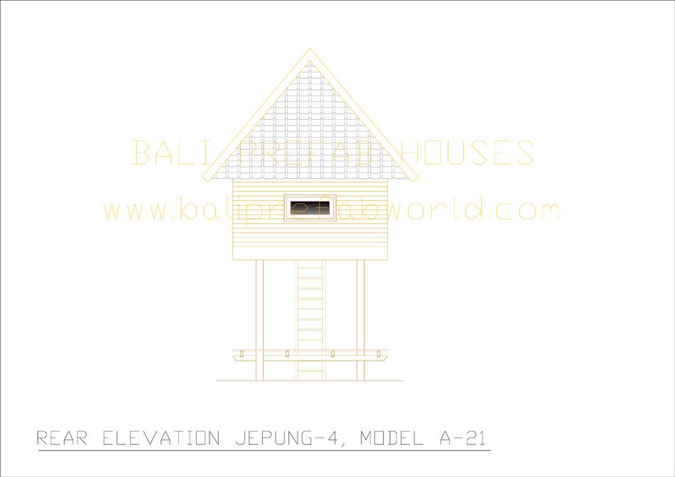Jepung-A-21 rear elevation