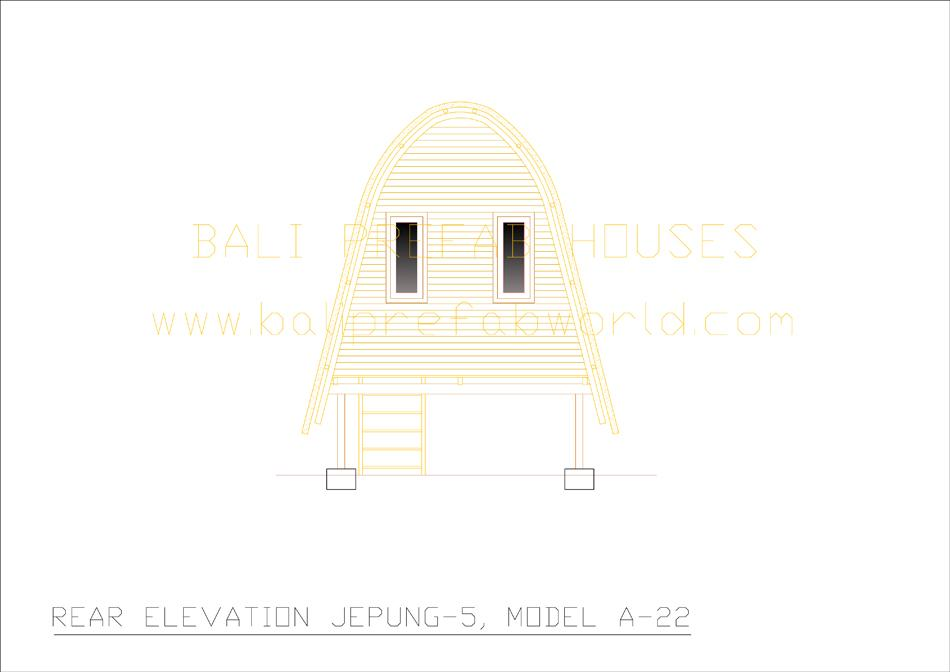 Jepung-A-22 rear elevation