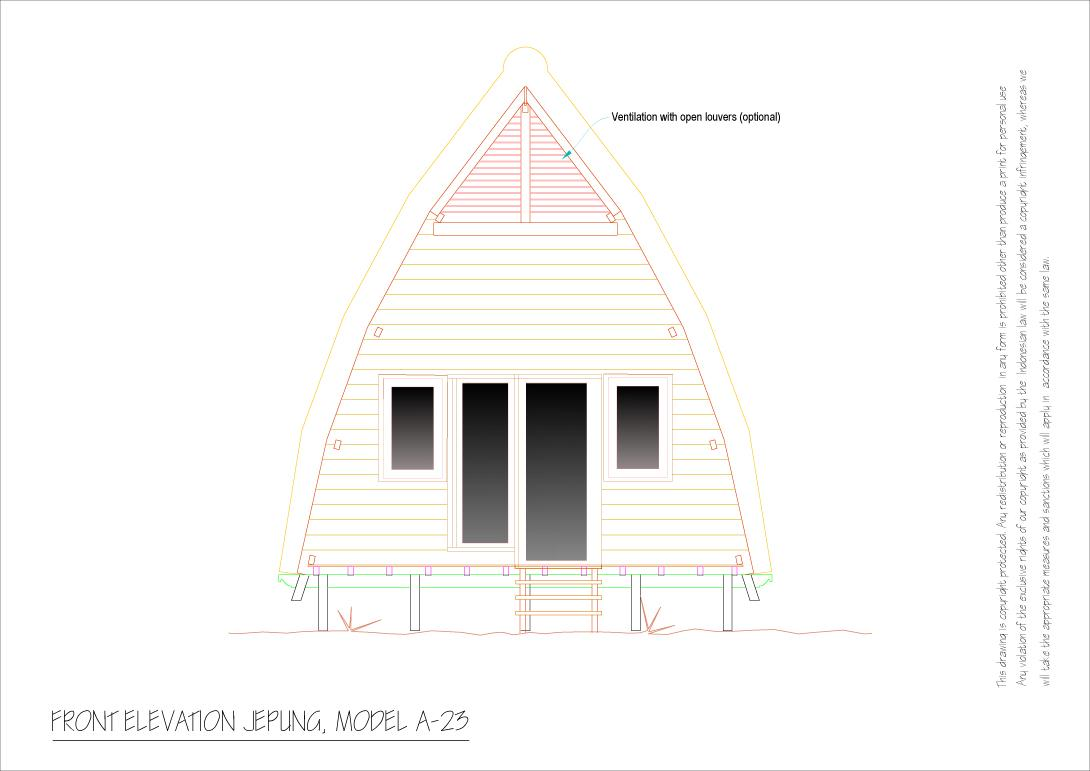 Jepung A 23 front elevation 1