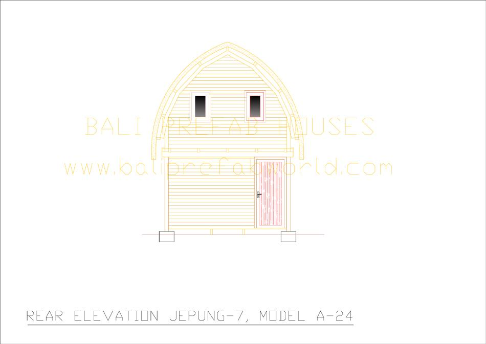 Jepung-A-24 rear elevation