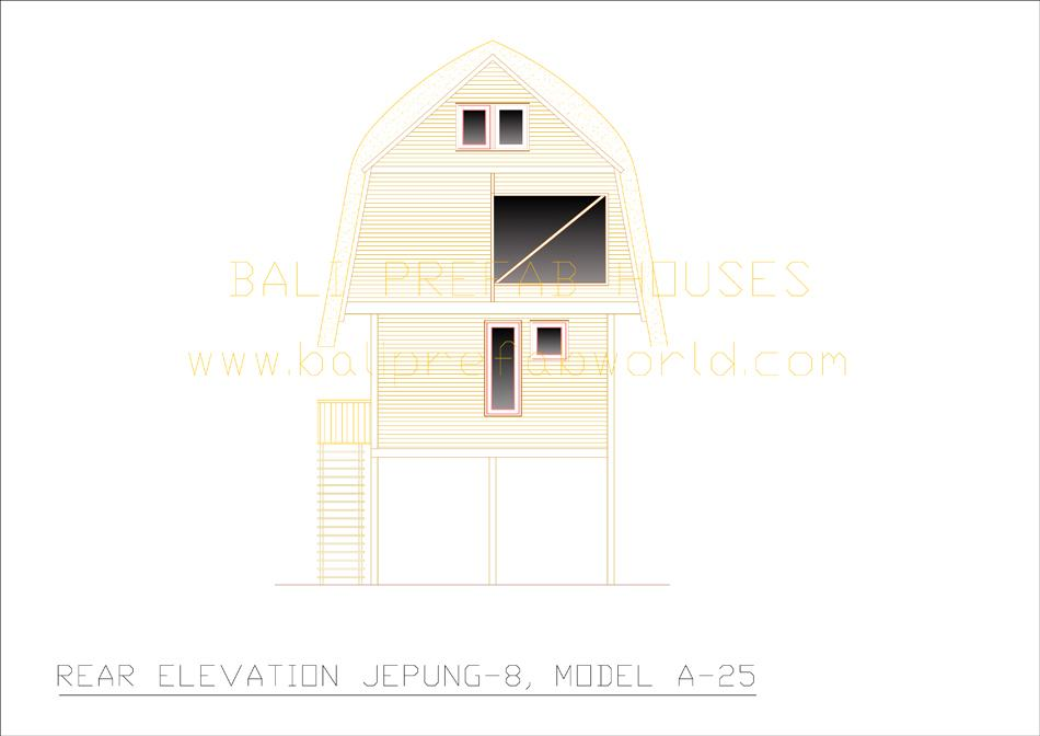 Jepung-A-25 rear elevation