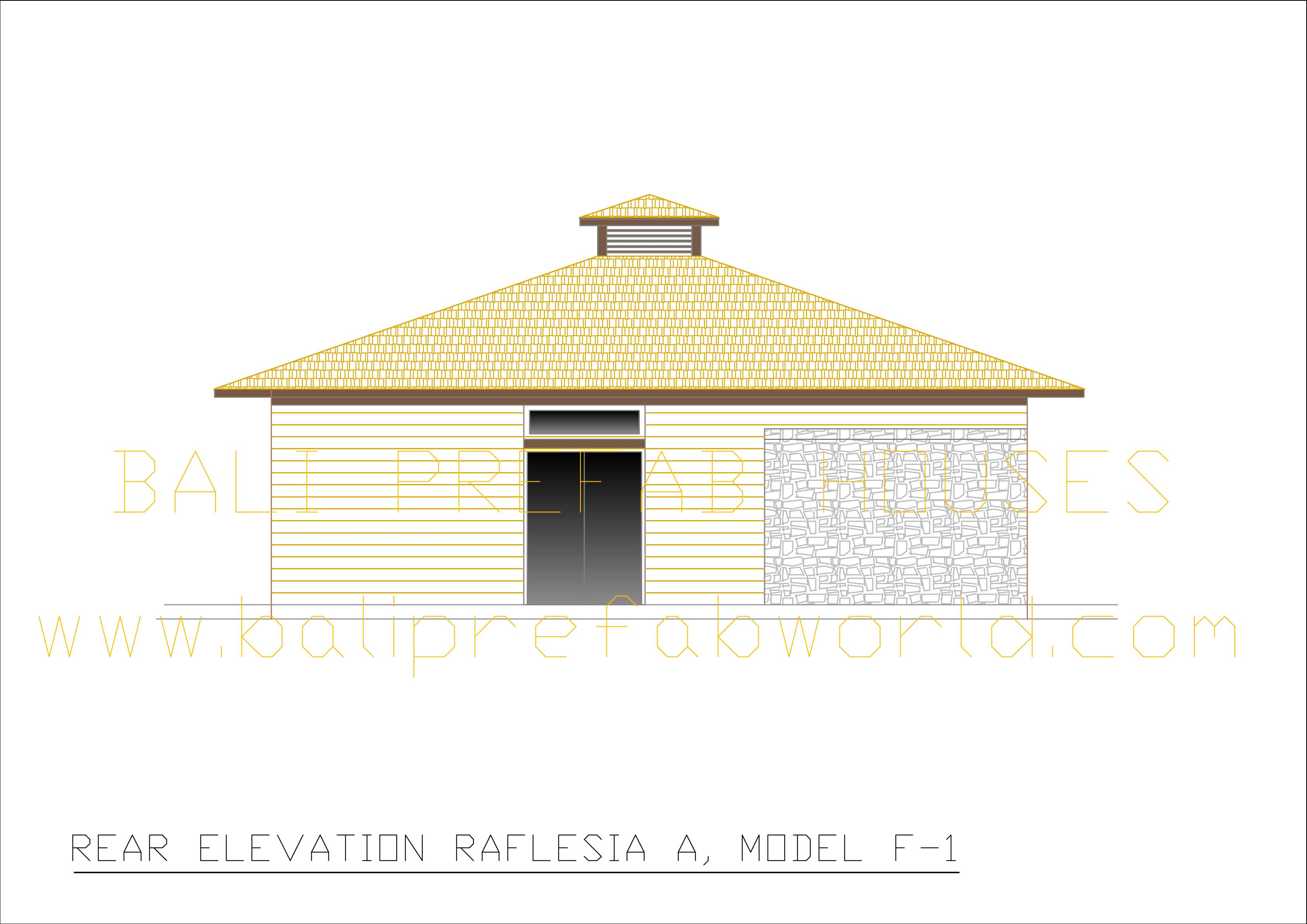 Raflesia-A rear elevation
