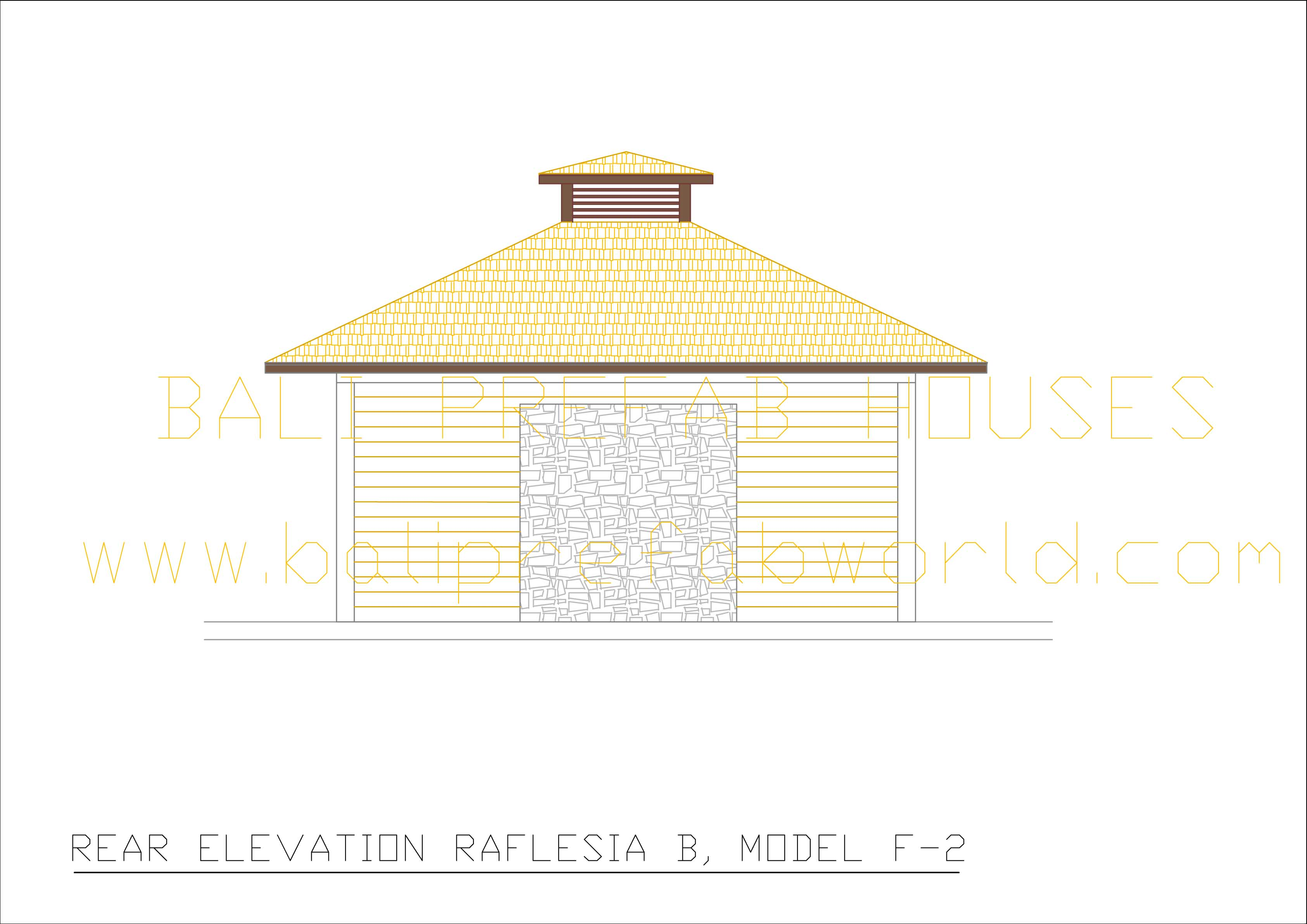 Raflesia-B rear elevation
