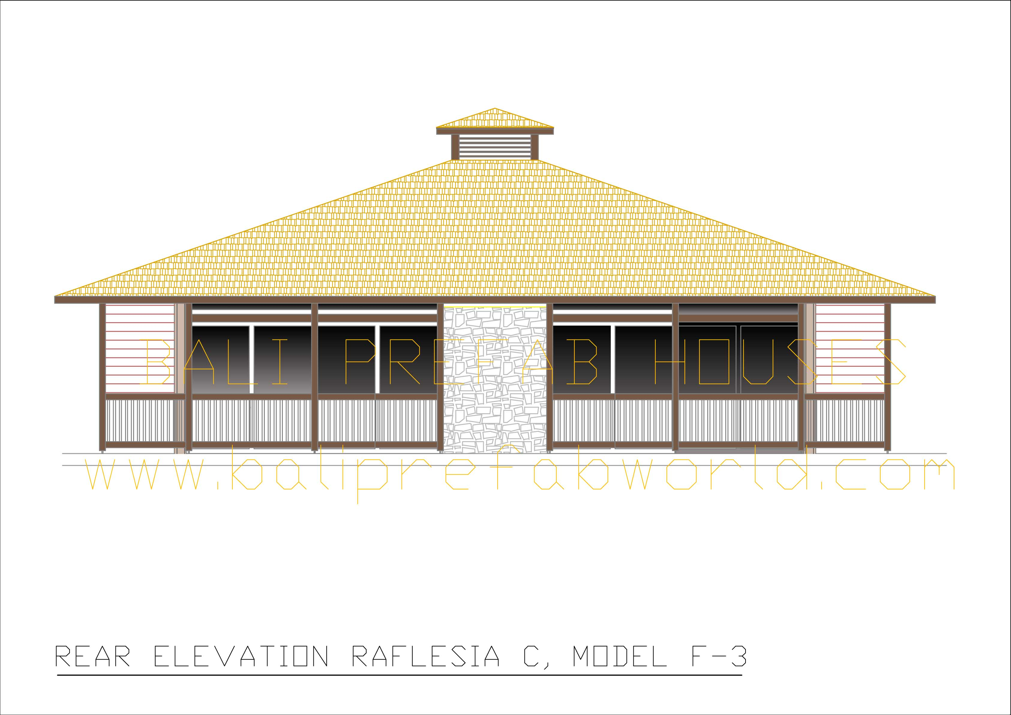 Raflesia-C rear elevation