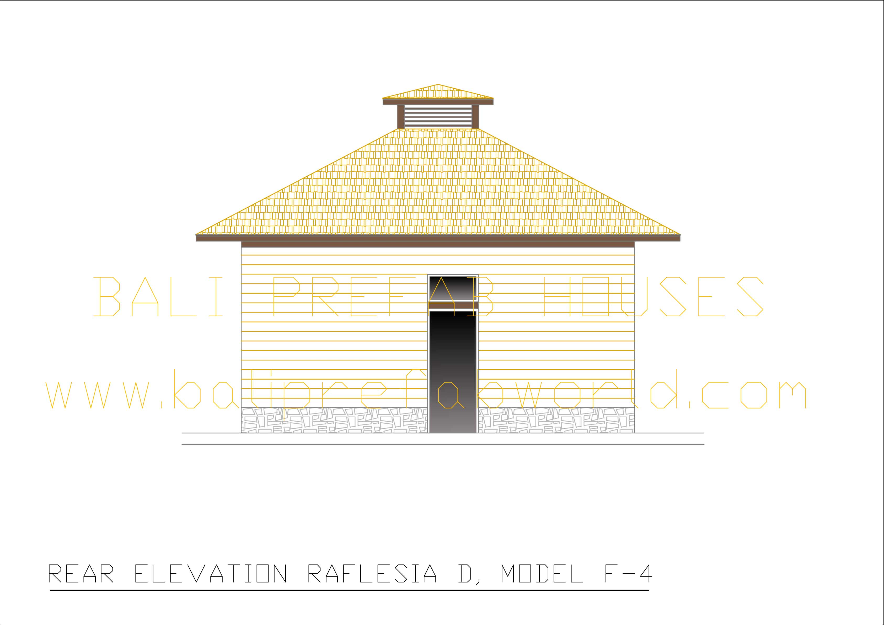 Raflesia-D rear elevation