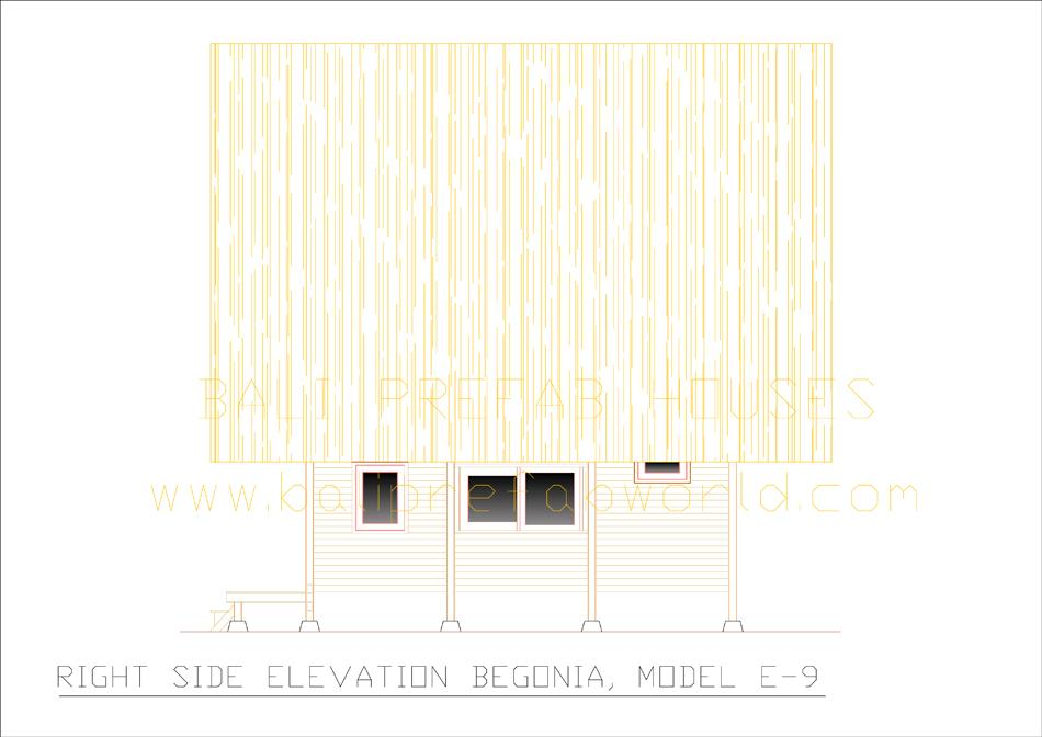 Ground Floor Side Elevation : Bali prefab world lumbungs set