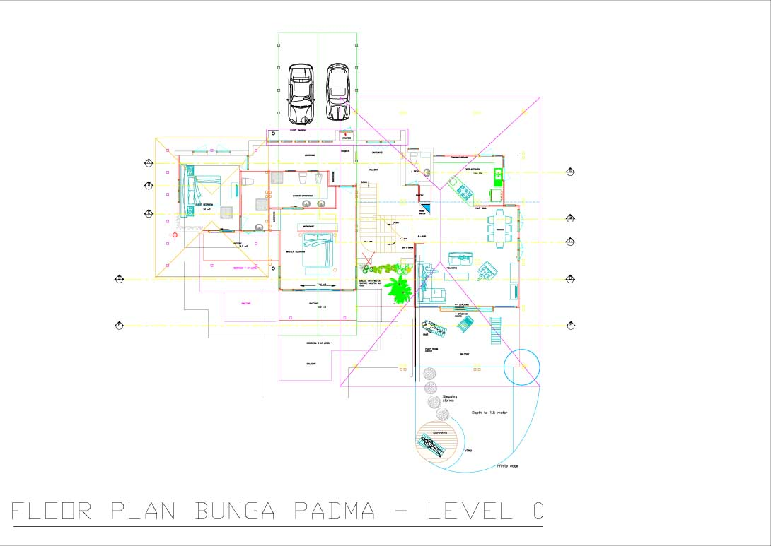 Bunga Padma floor plan level 0