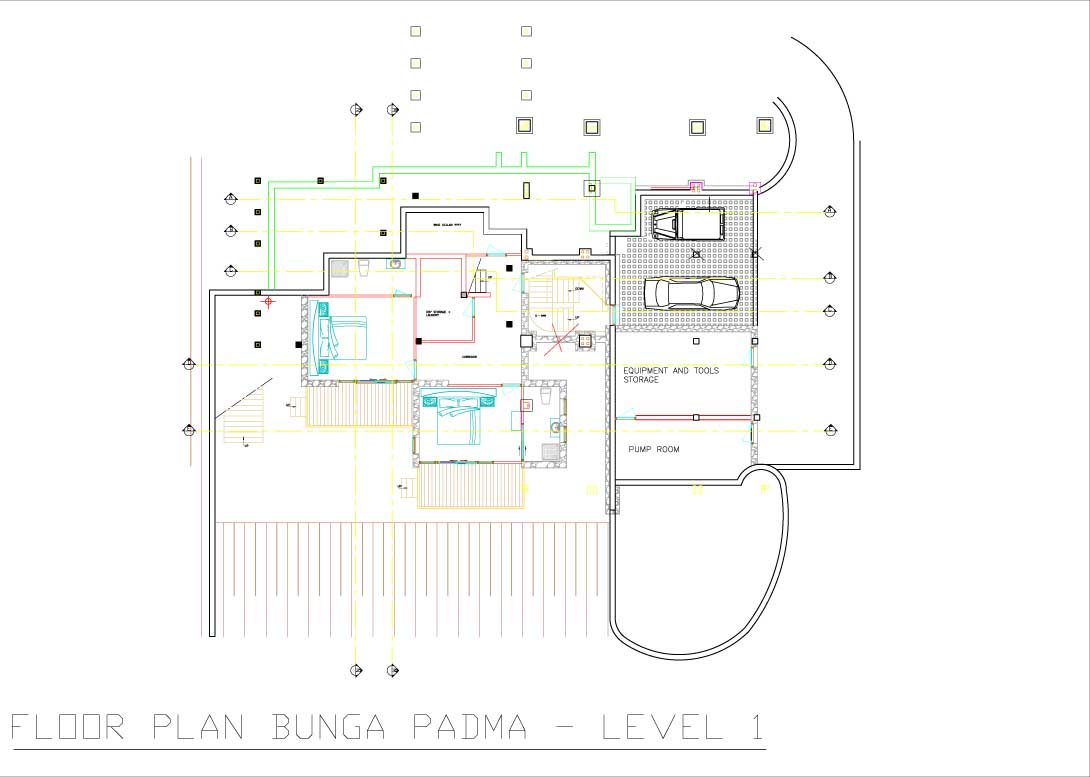Bunga Padma floor plan level 1