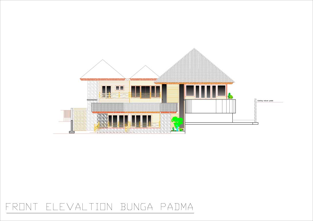 Bunga Padma front elevation