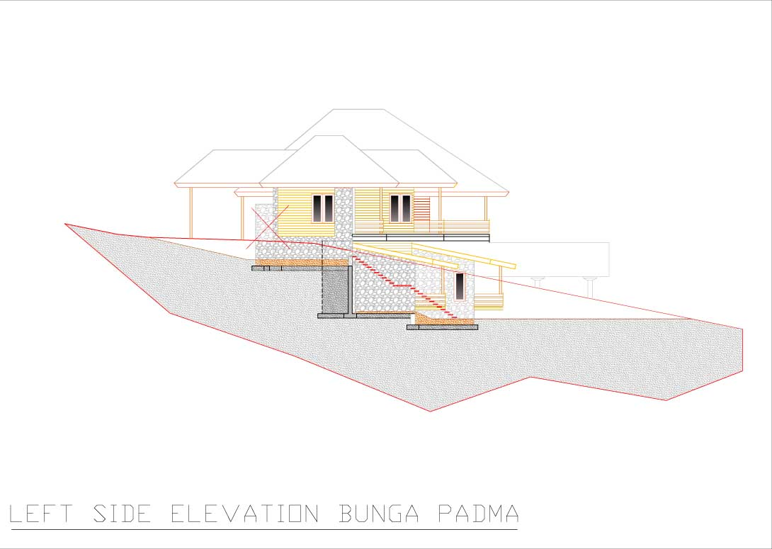 Bunga Padma left side elevation
