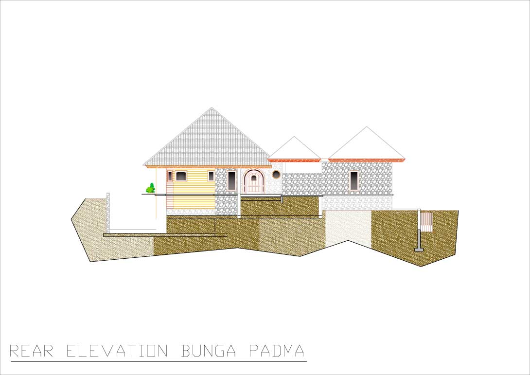Bunga Padma rear elevation 1