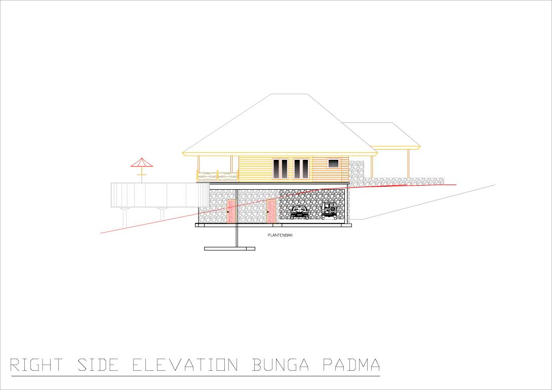 Bunga Padma right side elevation