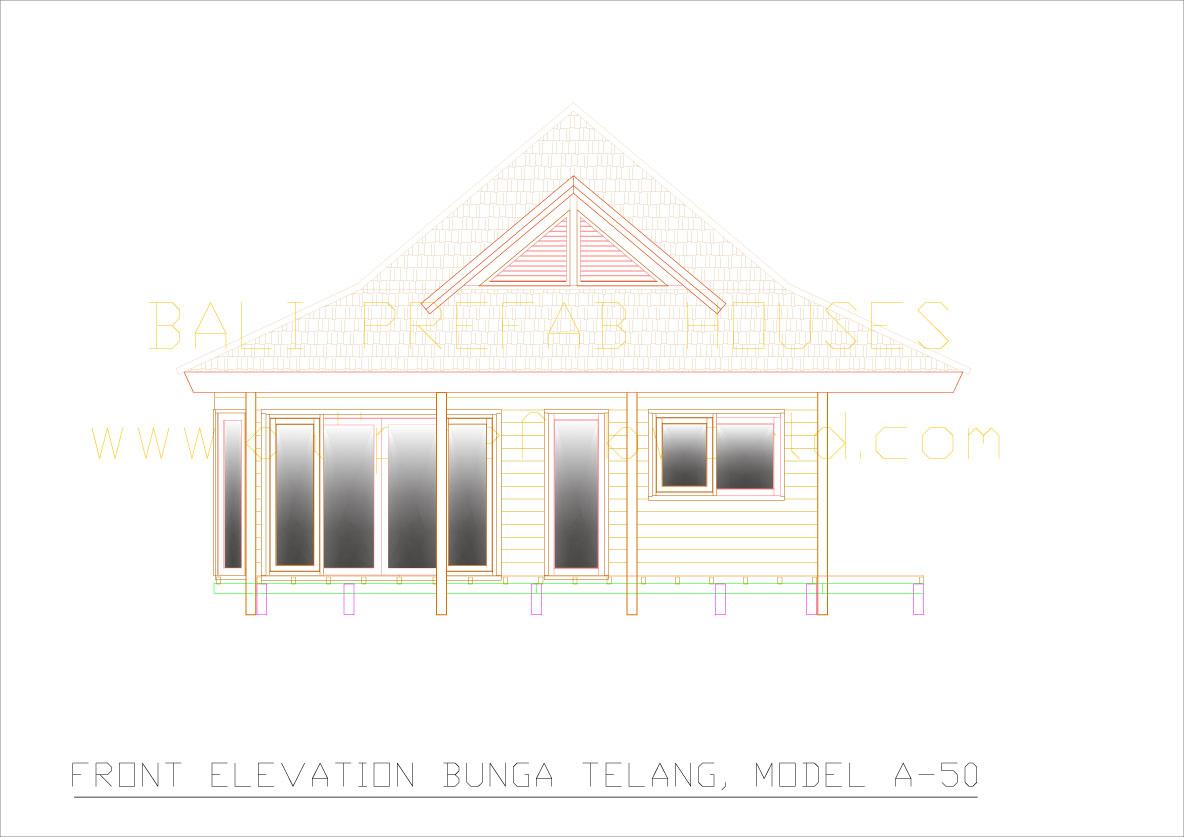 Bunga-telang front elevation