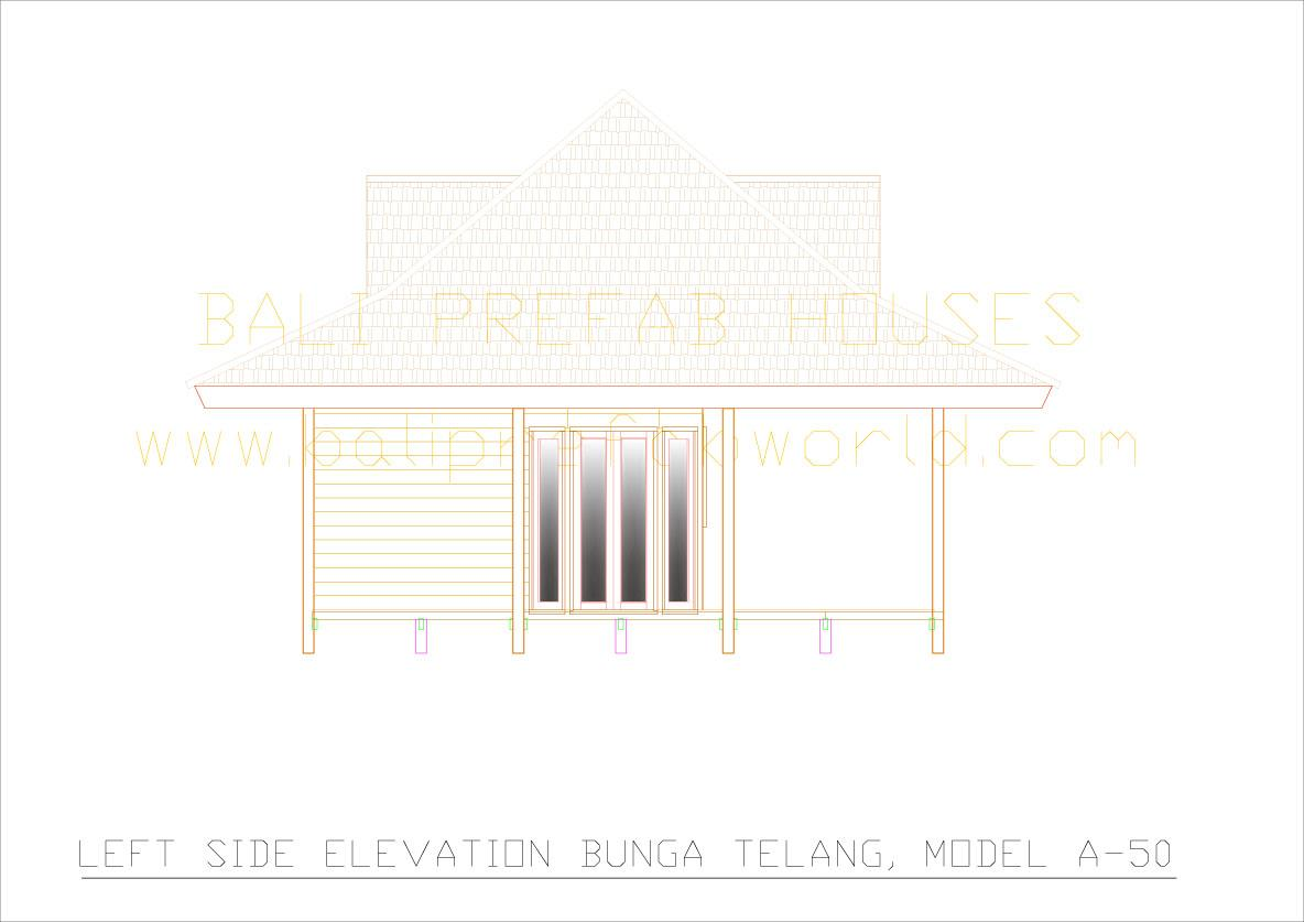 Bunga-telang left side elevation