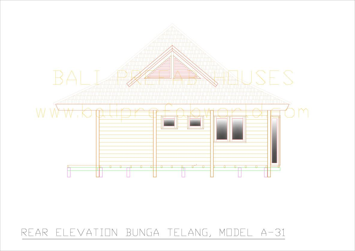 Bunga-telang rear elevation