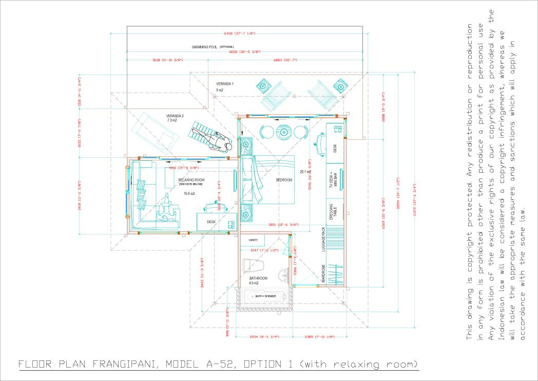 Frangipani floorplan option 1