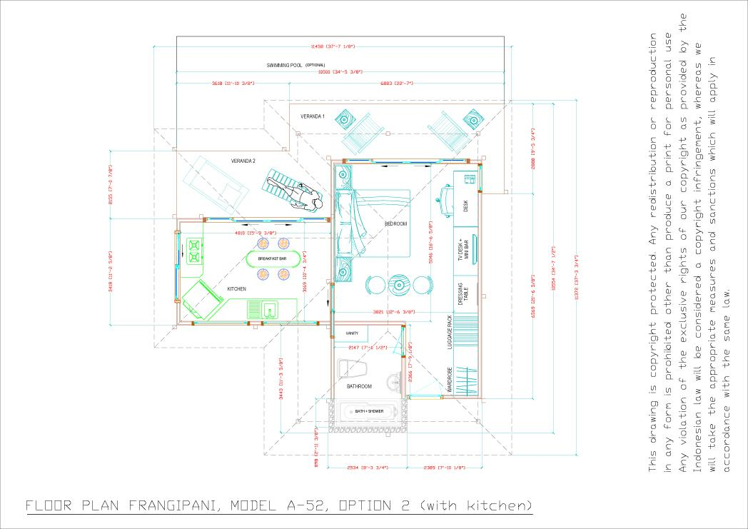 Frangipani floorplan option 2