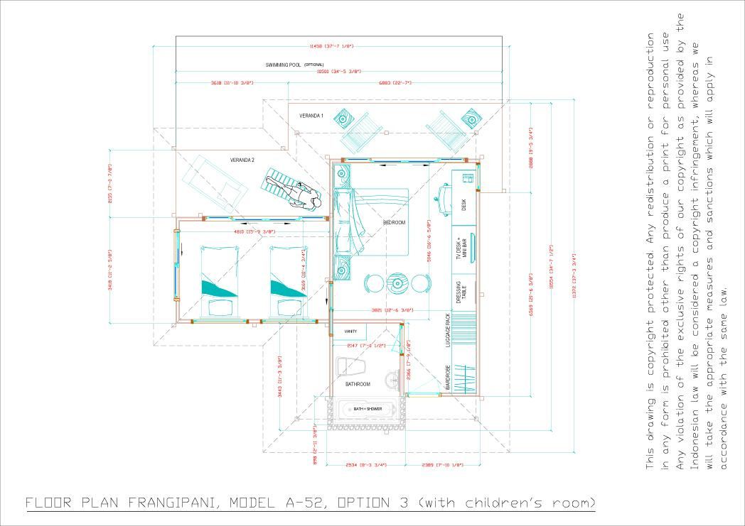 Frangipani floorplan option 3
