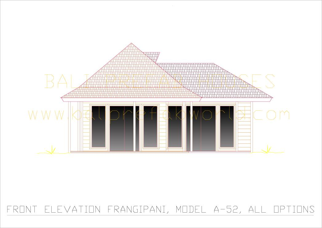 Frangipani front elevation all options