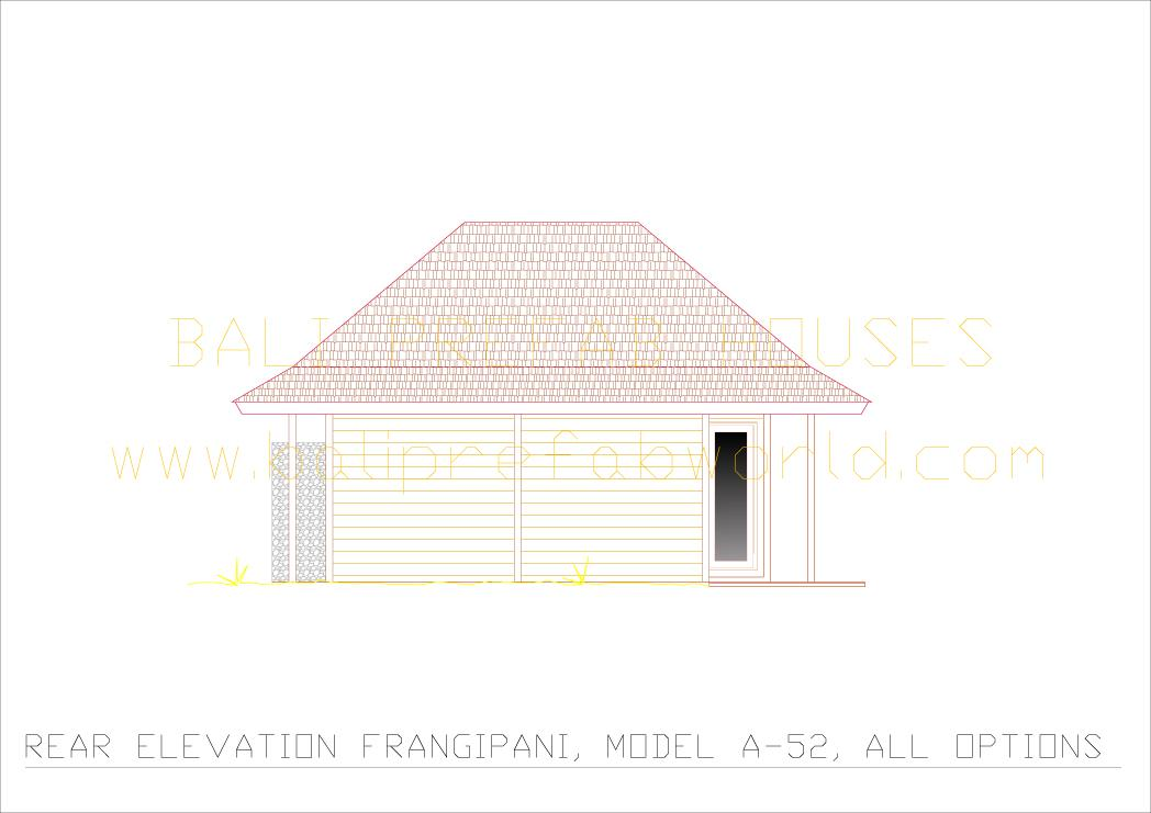 Frangipani rear elevation all options
