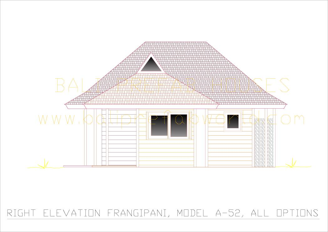 Frangipani right side elevation all options
