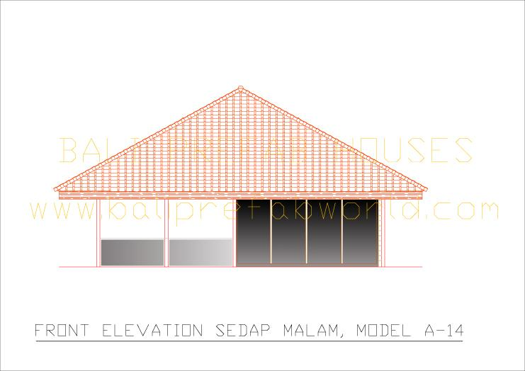 Sedap malam front elevation
