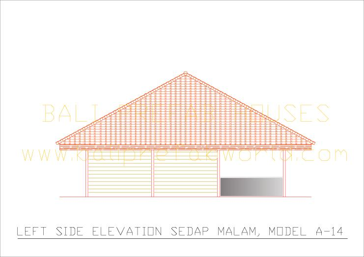 Sedap malam left side elevation