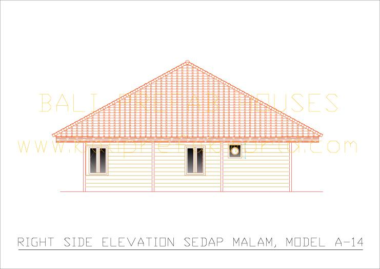 Sedap-malam right side elevation