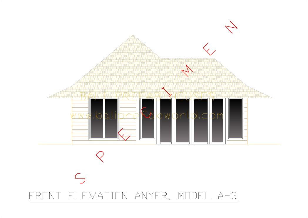 Anyer front elevation
