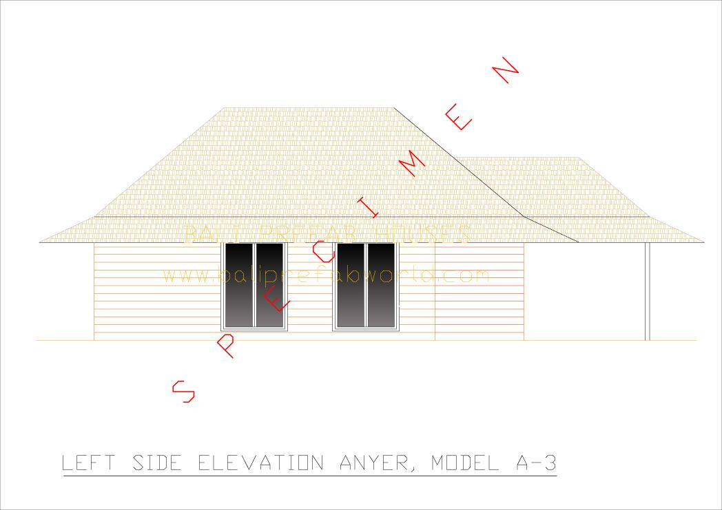 Anyer left side elevation