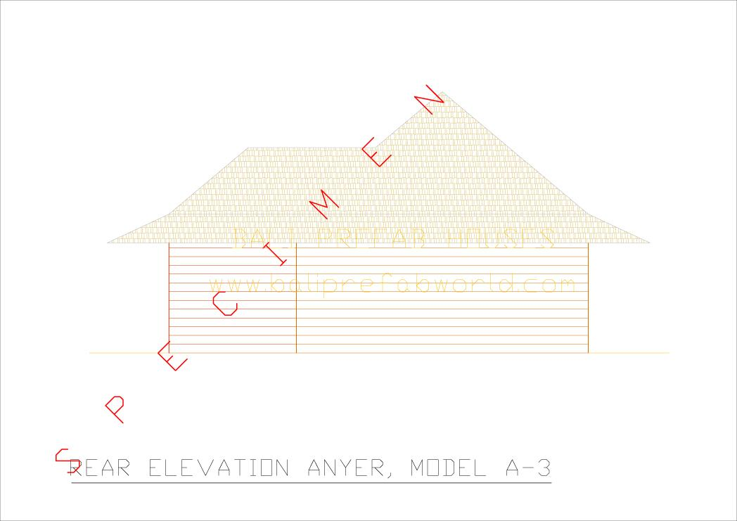 Anyer rear elevation
