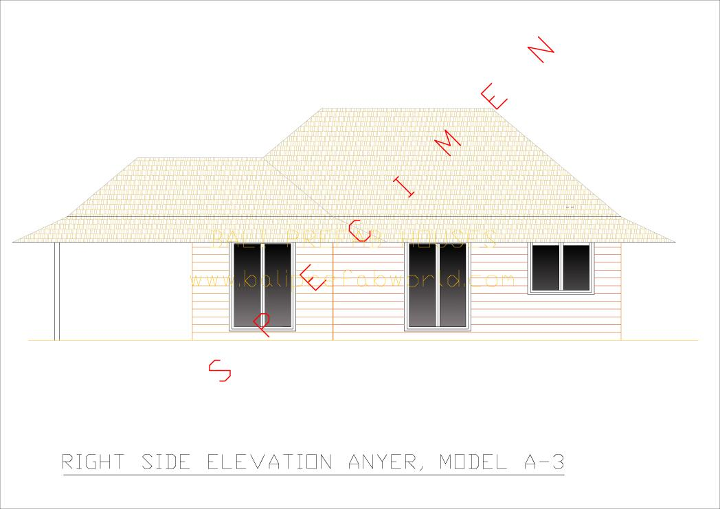Anyer right side elevation
