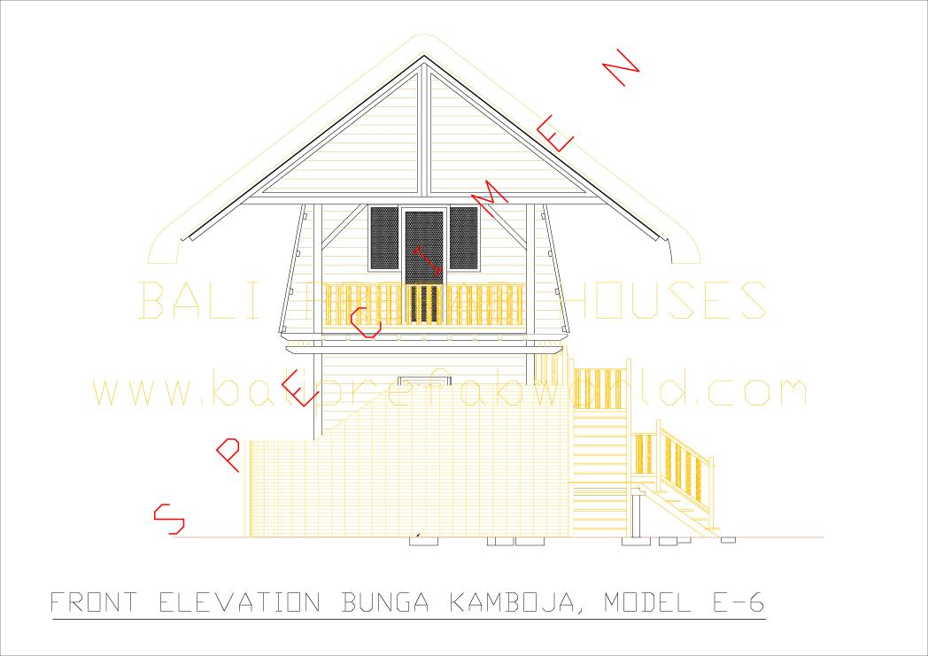 Sample Front Elevation Models : Type bunga kamboja