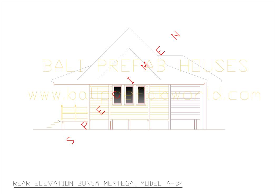 Bunga mentega rear elevation