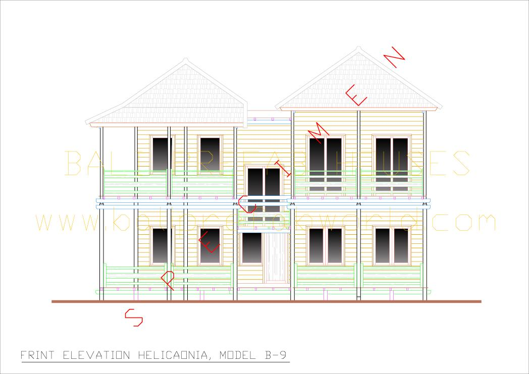 Ground Floor House Elevation Models : Type heliconia