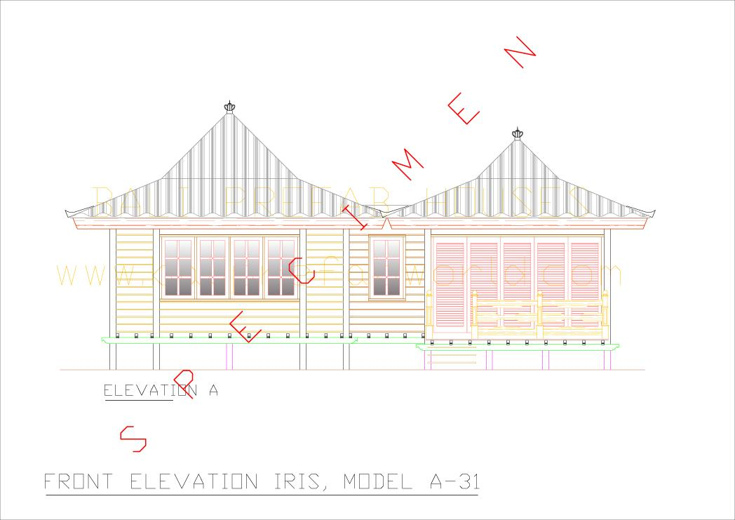 Sample Front Elevation Models : Type iris