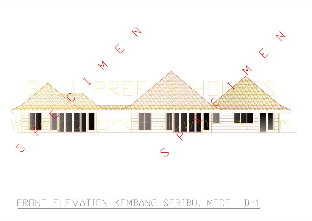 Kembang seribu front elevation