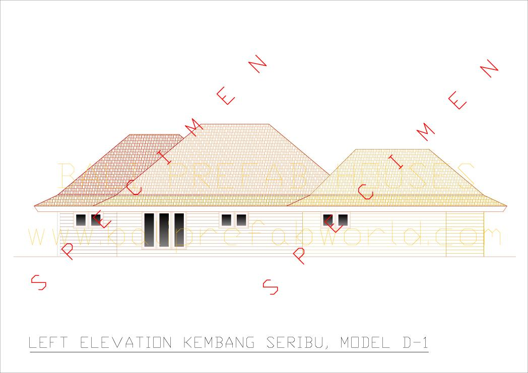 Kembang seribu left side elevation