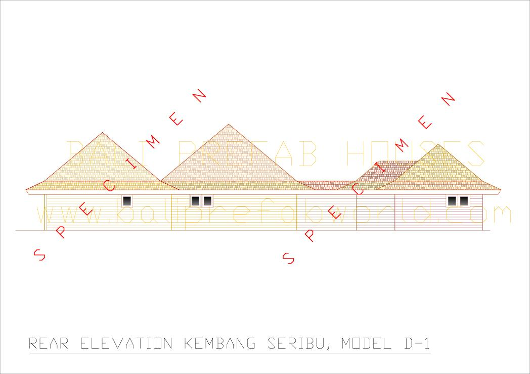 Kembang seribu rear elevation