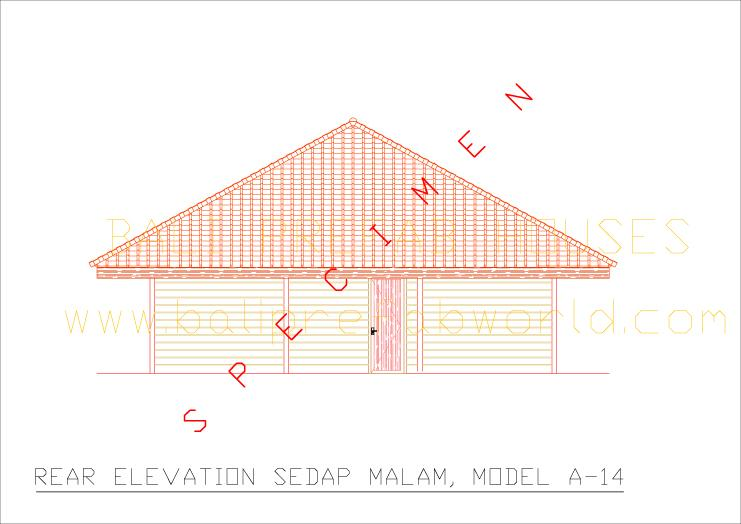 Sedap malam rear elevation