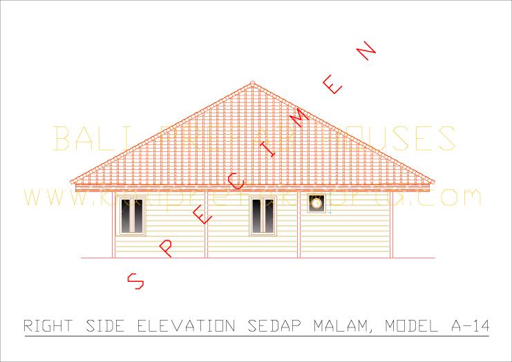 Sedap malam right side elevation
