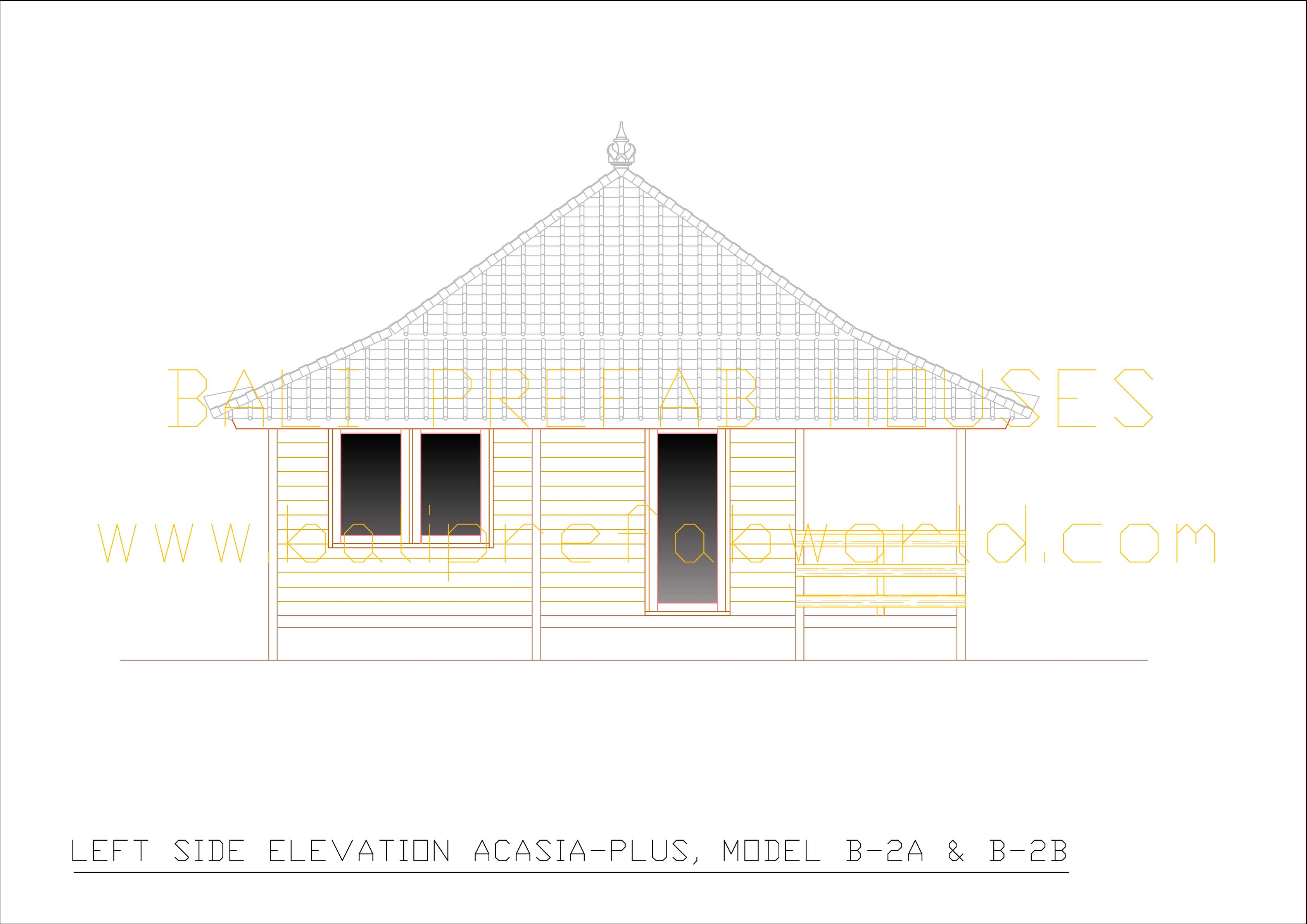 Acasia-plus left side elevation