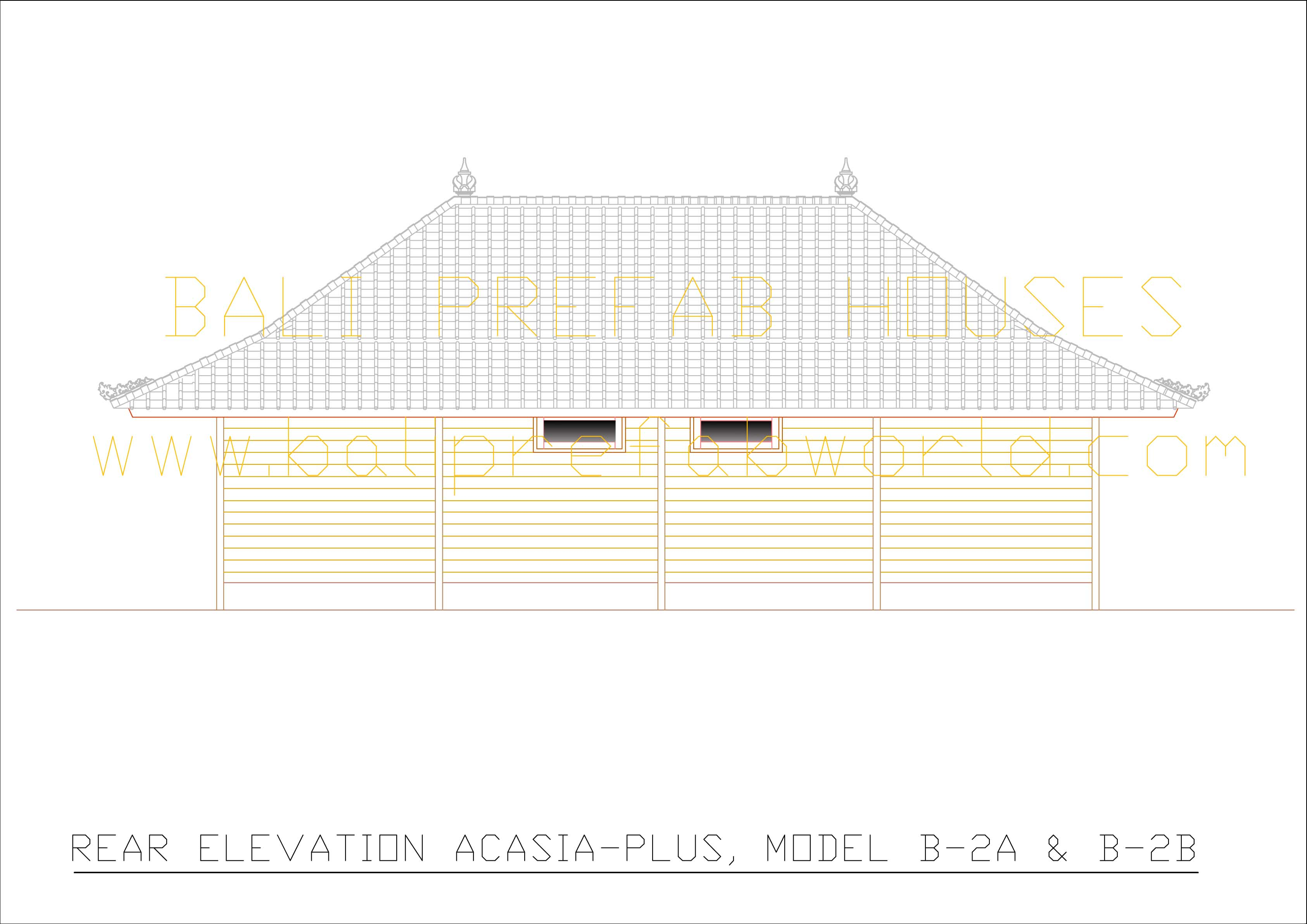 Acasia-plus rear elevation