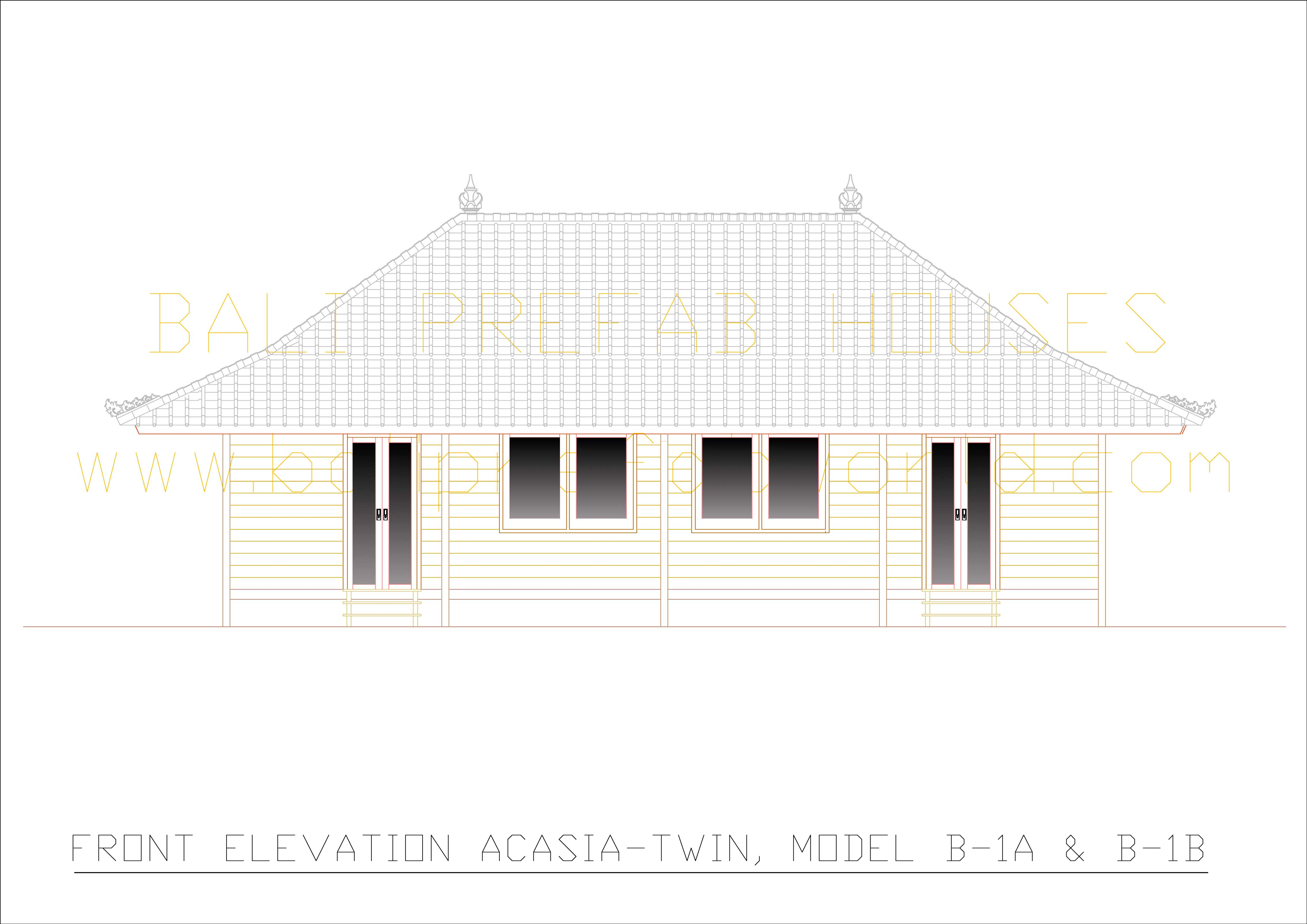 Acasia-twin front elevation