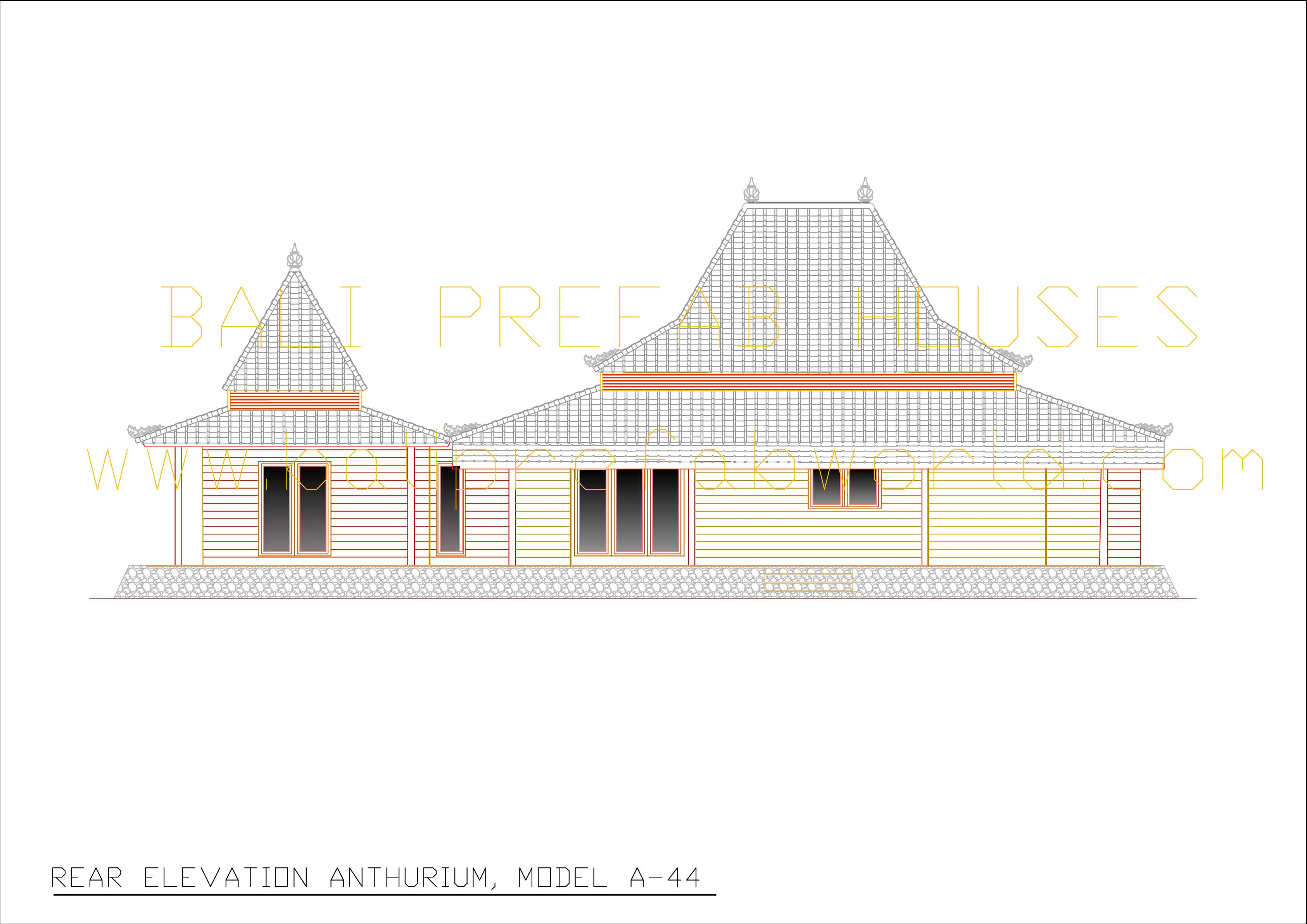 Bali prefab world viola anthurium for What is rear elevation