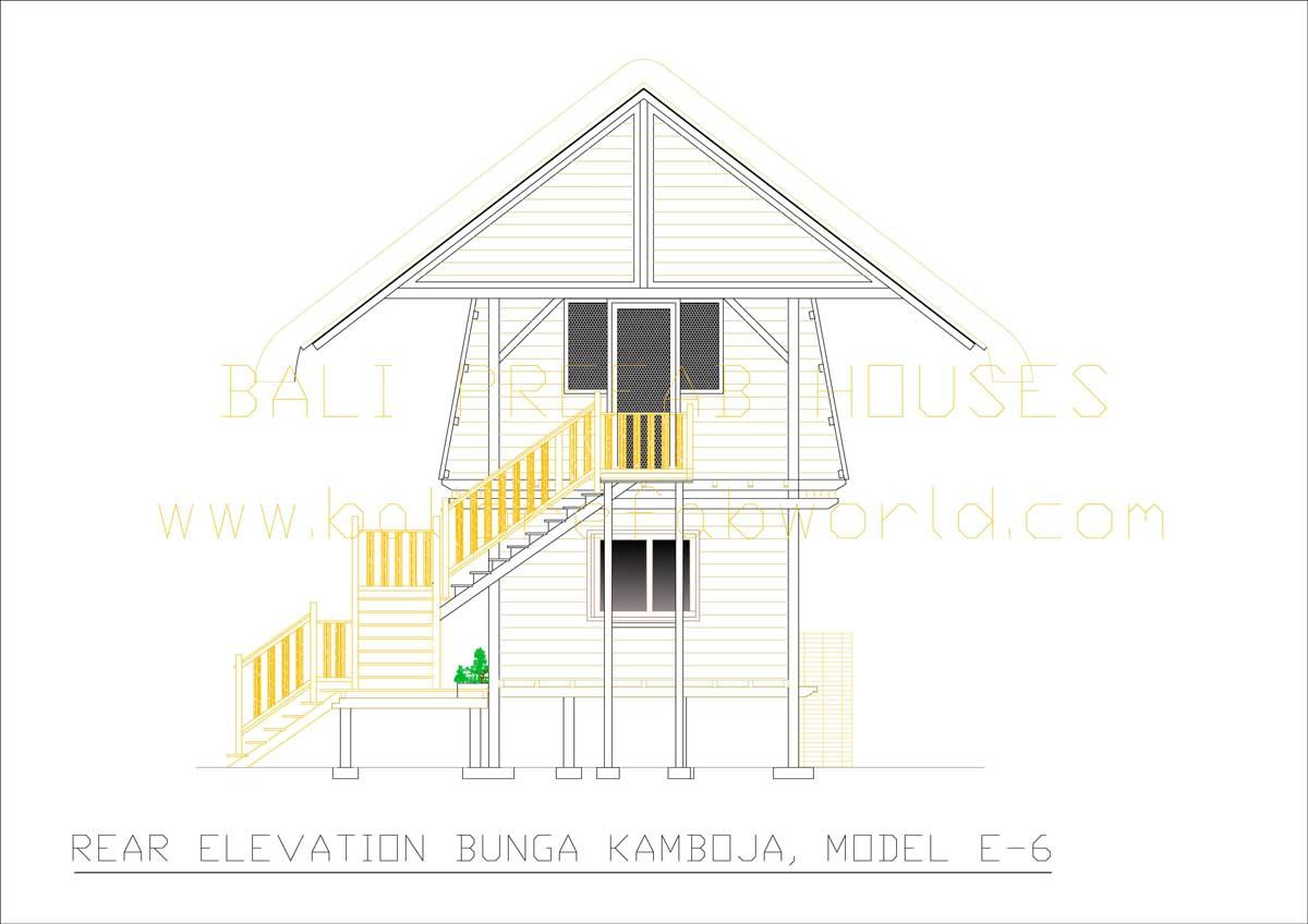 Bunga-Kamboja rear elevation