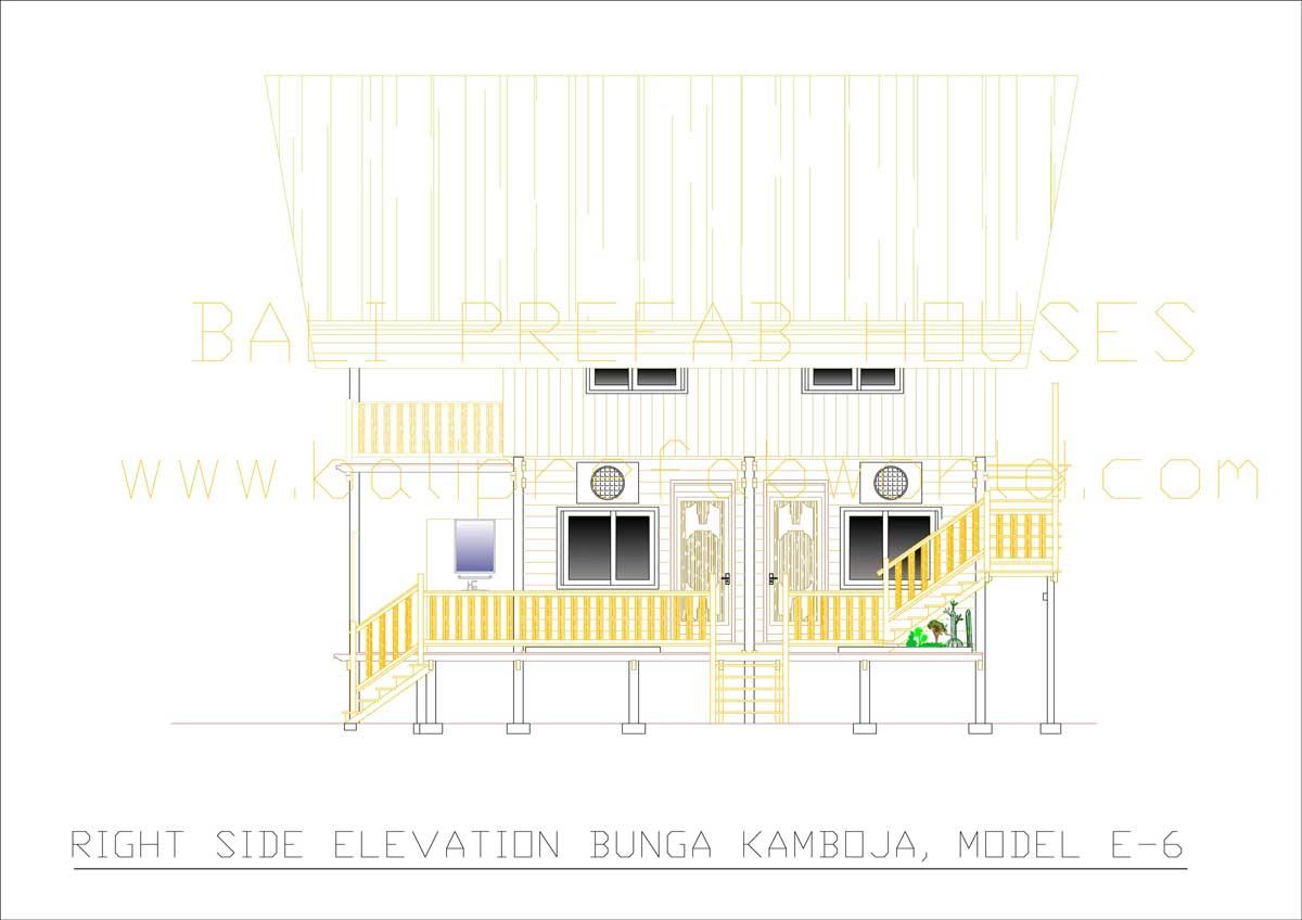 Bunga-Kamboja right side elevation